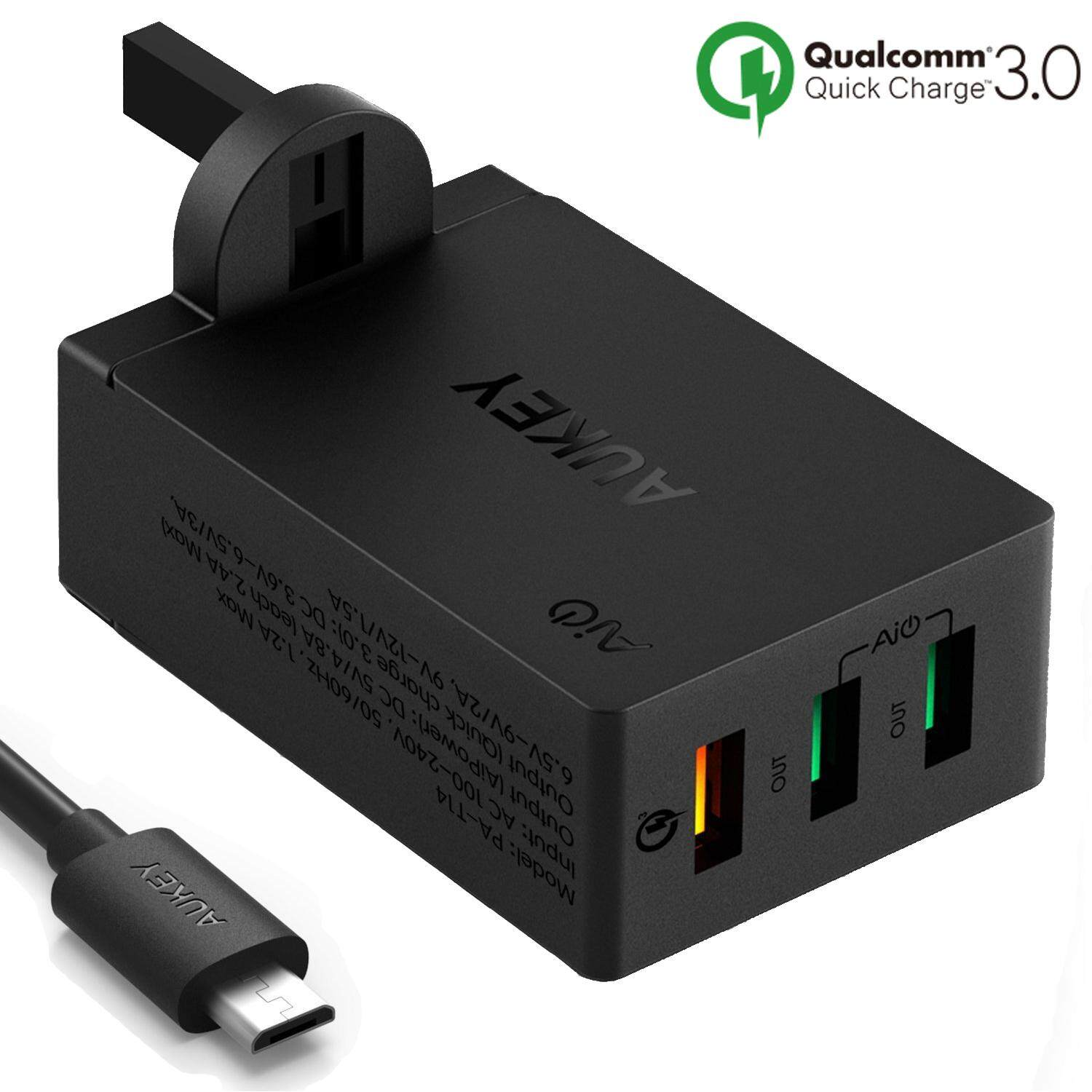 Promo Harga Aukey Cable Cb Md3 C Termurah 2018 Cd5 1m Usb To Quick Charge 30 Braided Nylon Mobile Accessories Price In Malaysia Best Pa T14 3 Port