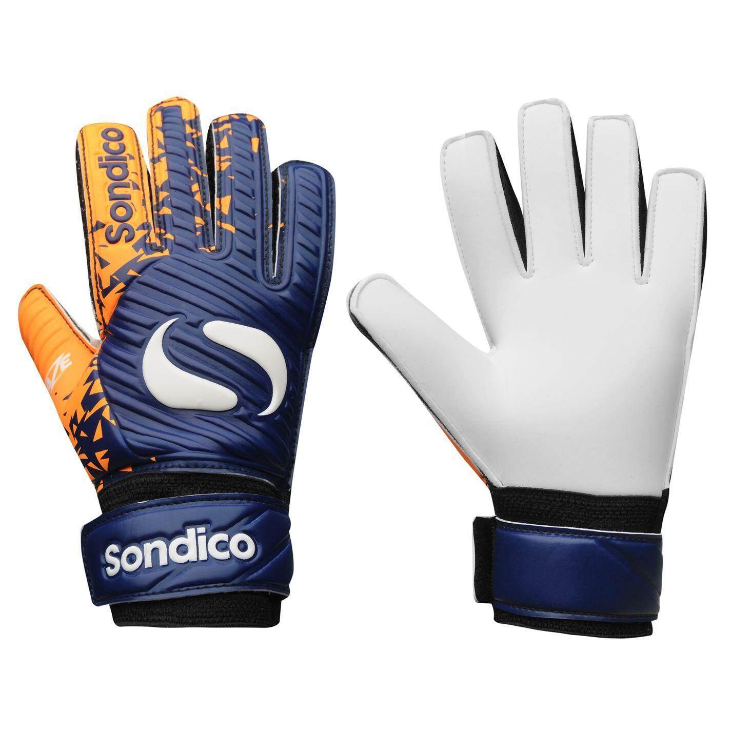 Sondico Kids Blaze Goalkeeper Gloves Navy Orange