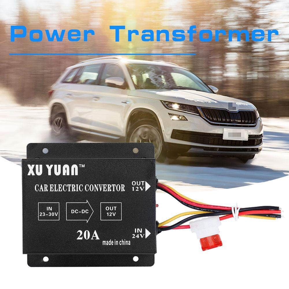 Car Truck 20a 240w Dc 24v To 12v Power Converter Electric Voltage Reducer Step-Down Transformer By Qilu.