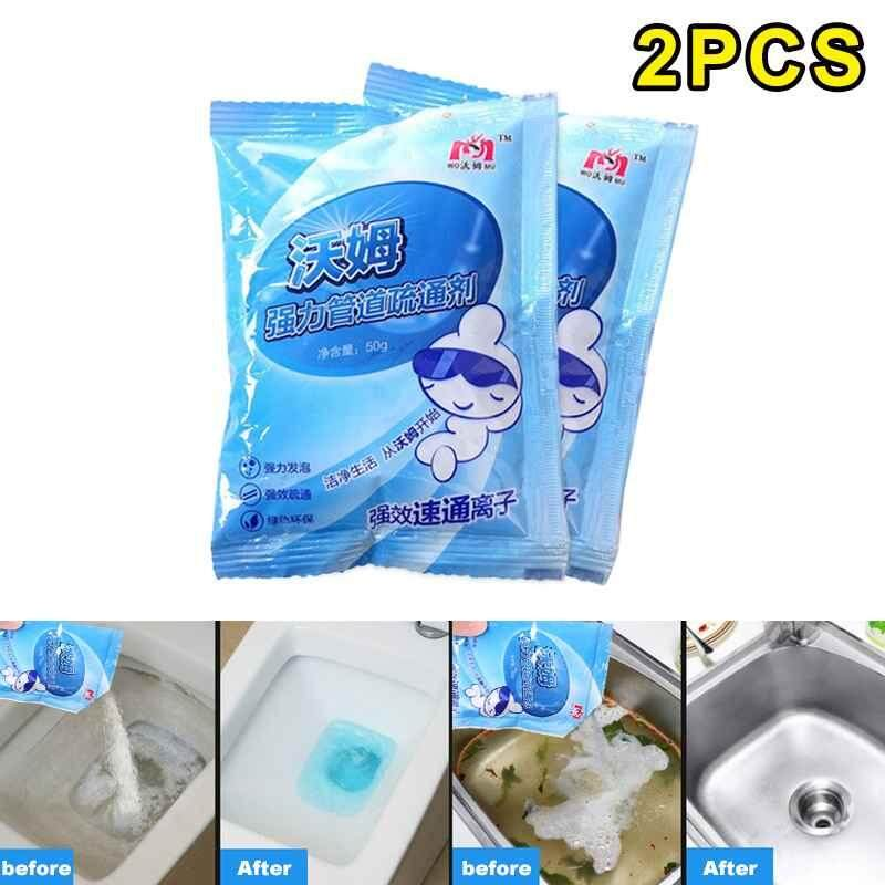 Jayoyi 2pcs Drain Cleaners Kitchen toilet drainage pipe toilet toilet dredging agent floor drain sewer blocking strong cleaning agent