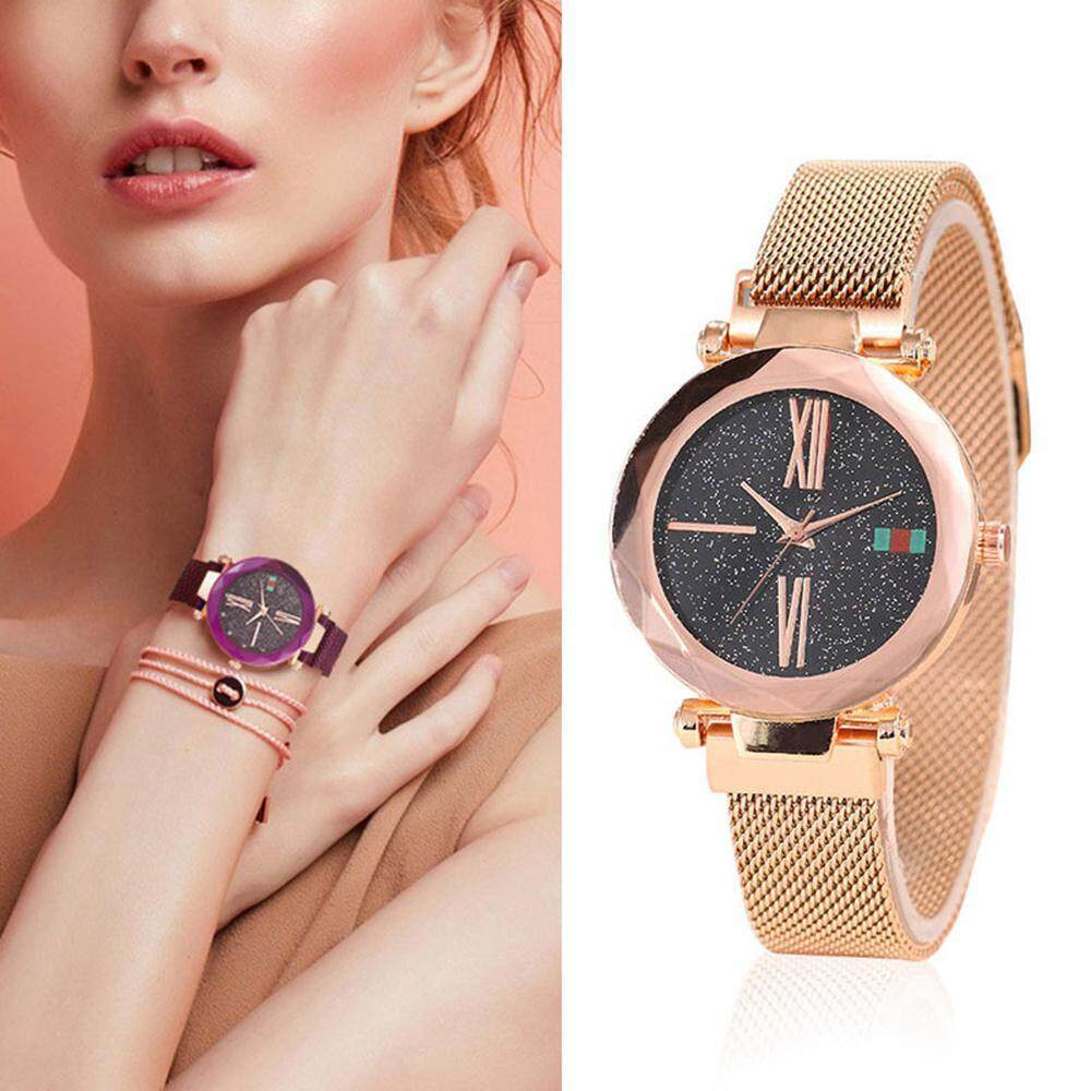 Kacoo Fashion Korean Style Ladys Watches With Magnetic Mesh Band, Waterproof Analogue Quartz Ladies Watches Dial Simulated Wrist Watches By Kacoo.