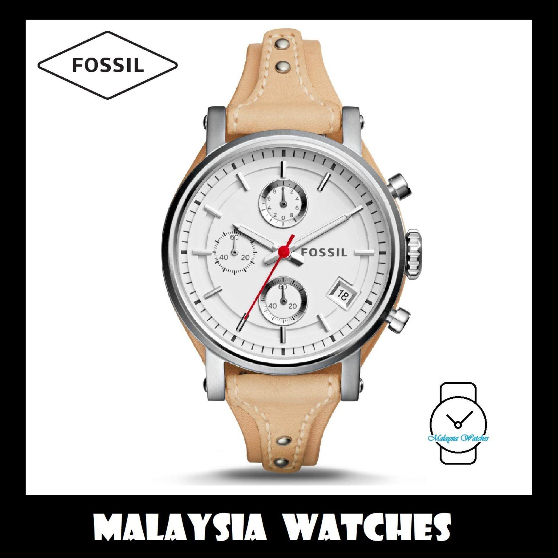 Fossil Women Watches Price In Malaysia Best Es3913 Jam Tangan Wanita Original Womens Es4229 Boyfriend Sport Chronograph Vanilla Leather Watch