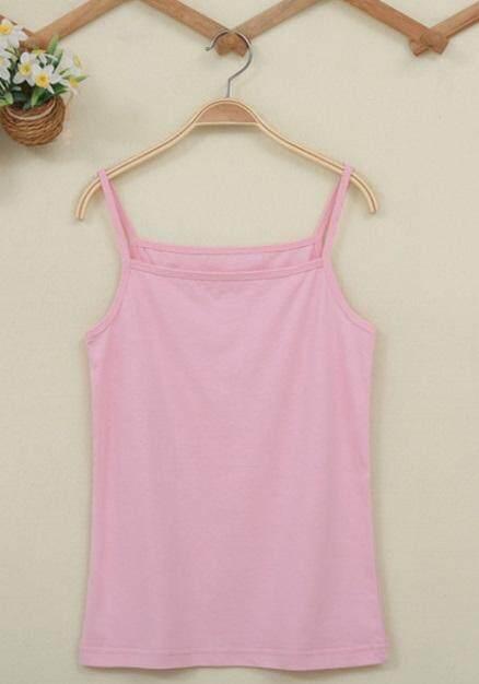 cadb51fb3b4 Light Pink colour colors Singlet Camisoles Lady Plain T-Shirt Woman Female  Girls Ladies T
