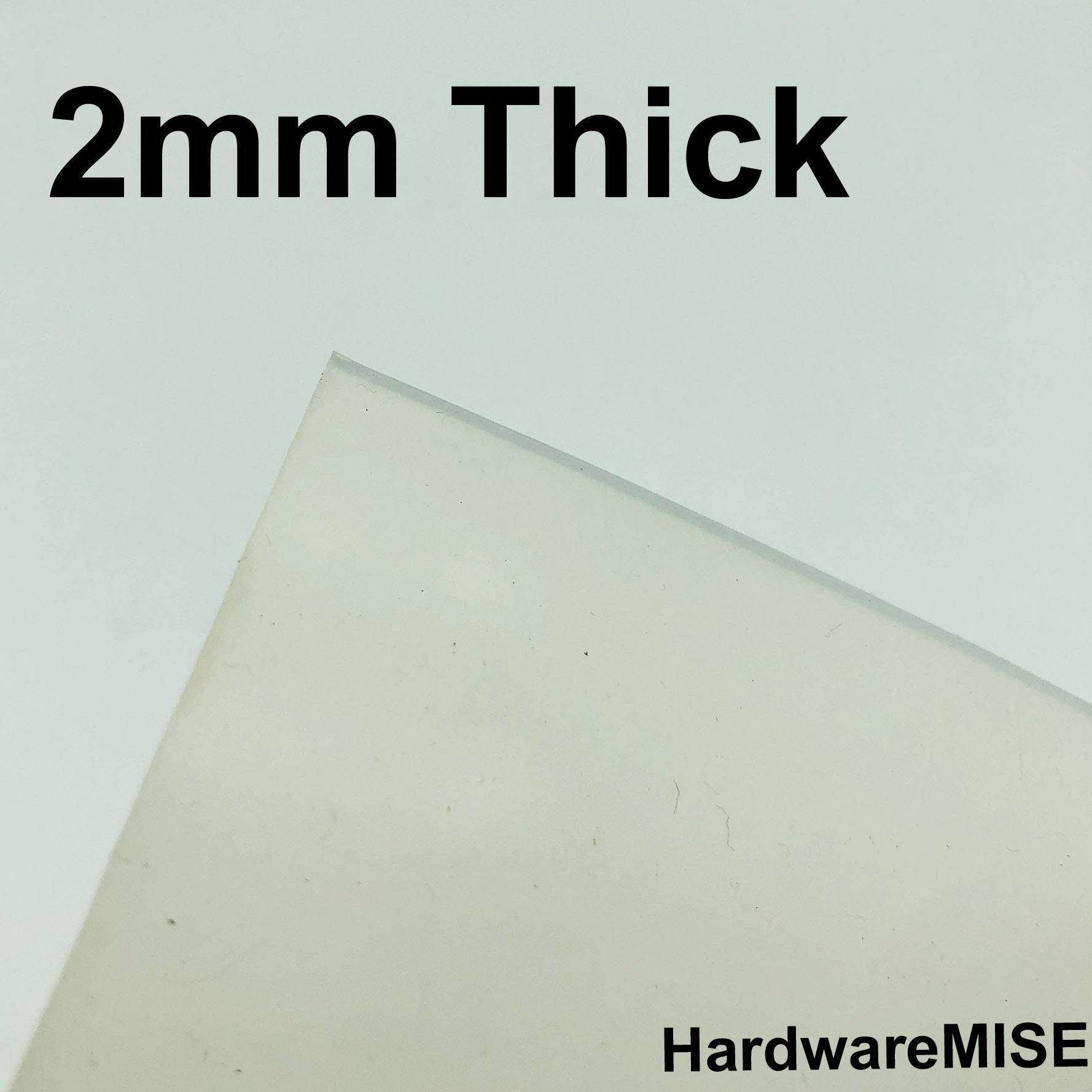 Silicone Rubber Sheet Translucent 2mm Thick By Hardwaremise.
