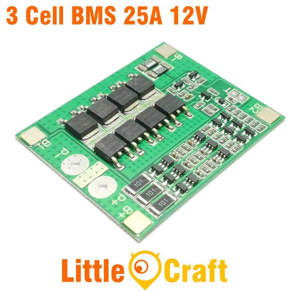 HX-3S-FL25A-A BMS 3 Cell 12V 25A Li-ION Battery Charge/ Discharge Protection Module