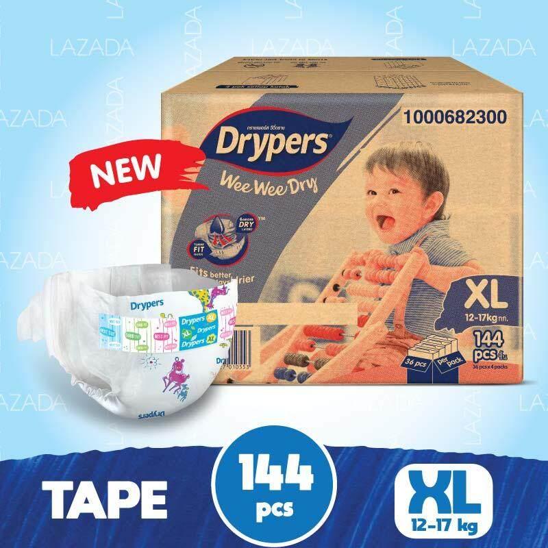 Drypers Wee Wee Dry Xl36 X 4packs (144 Pcs) By Lazada Retail Drypers.