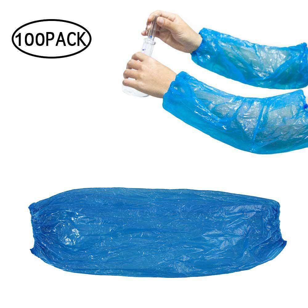 CZS 100 Pack Disposable Arm Sleeves Covers Kitchen Waterproof And Oil Sleeves Covers Arm Waterproof Protector For Painting, Repair, Cleaning, Showers