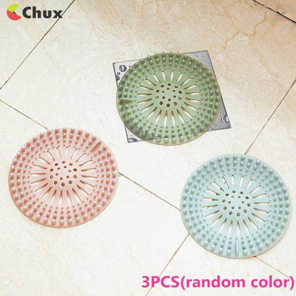 Chux 3 pcs Sink Strainer Filter Water Stopper Floor Drain Hair Catcher Bathtub Plug Bathroom Kitchen Basin Stopper