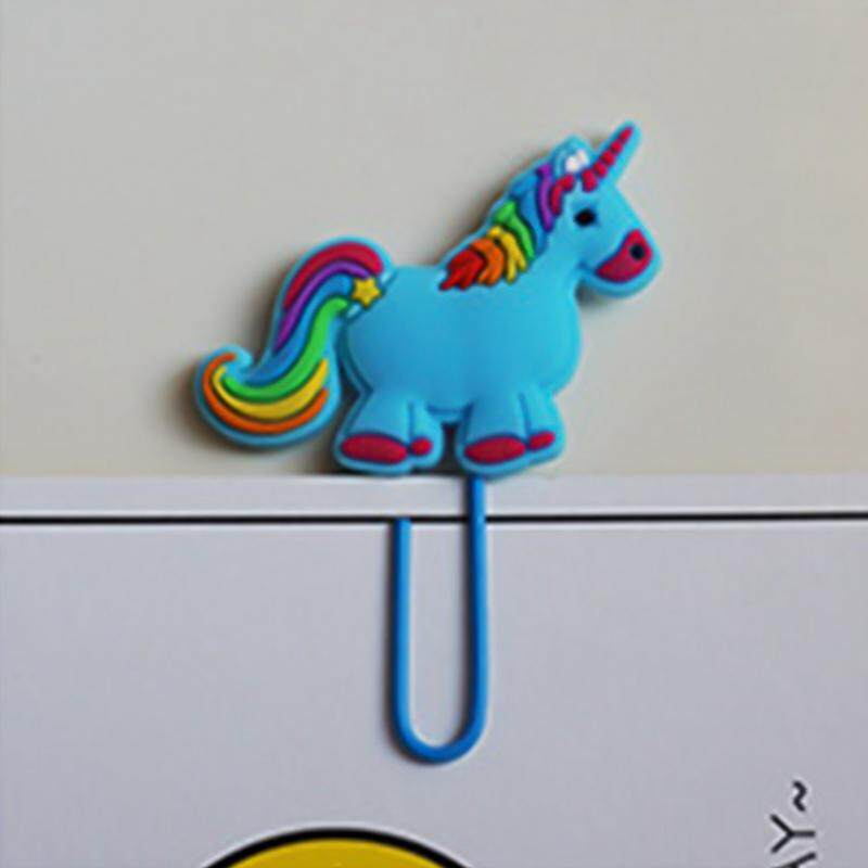 10 Pcs Linfang New Lovely Unicorn Modeling Simple Practical Bookmark By Linfang Store.