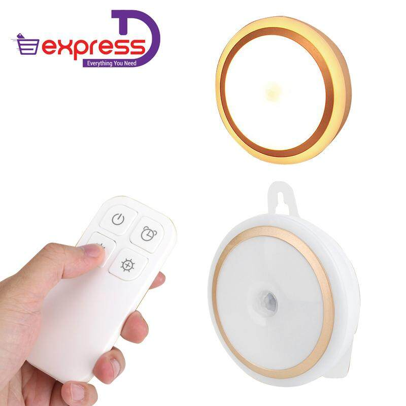 Free Bag New Wireless 5 LED Night Light Remote Control Lamp for Hallway Cabinet Closet Battery
