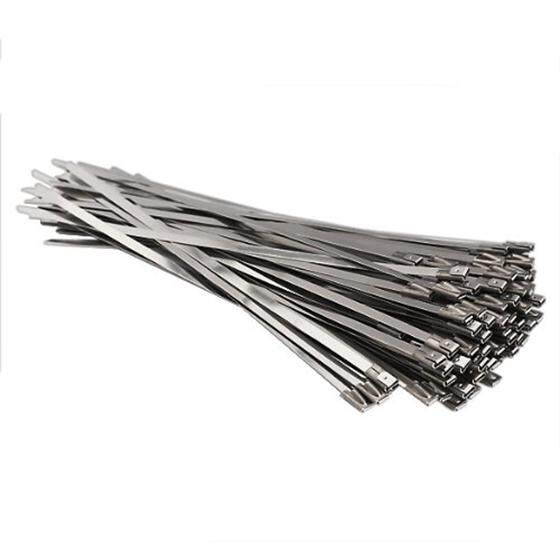 100pcs Stainless Steel Locking Cable Zip Ties Silver (4.6x300mm) By Yomichew.