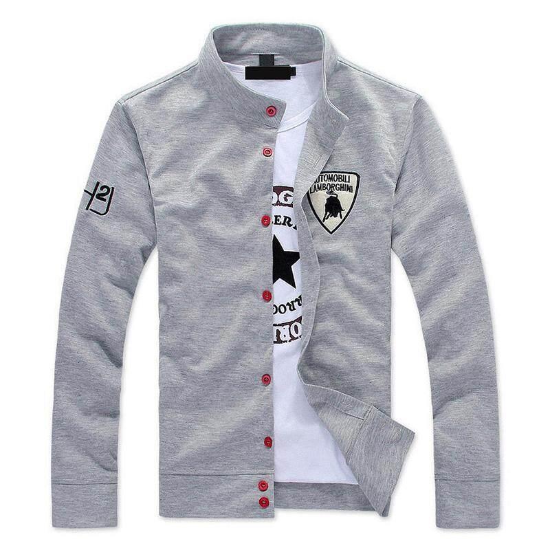 3370266c5799 men s boutique leisure pure cotton Sweatshirts Male fall leisure coat Men  labeling casual jackets Men grey