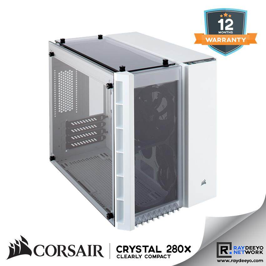 Corsair Crystal Series 280x Tempered Glass Micro ATX PC Case (White) [Matx, Mini-ITX] Malaysia