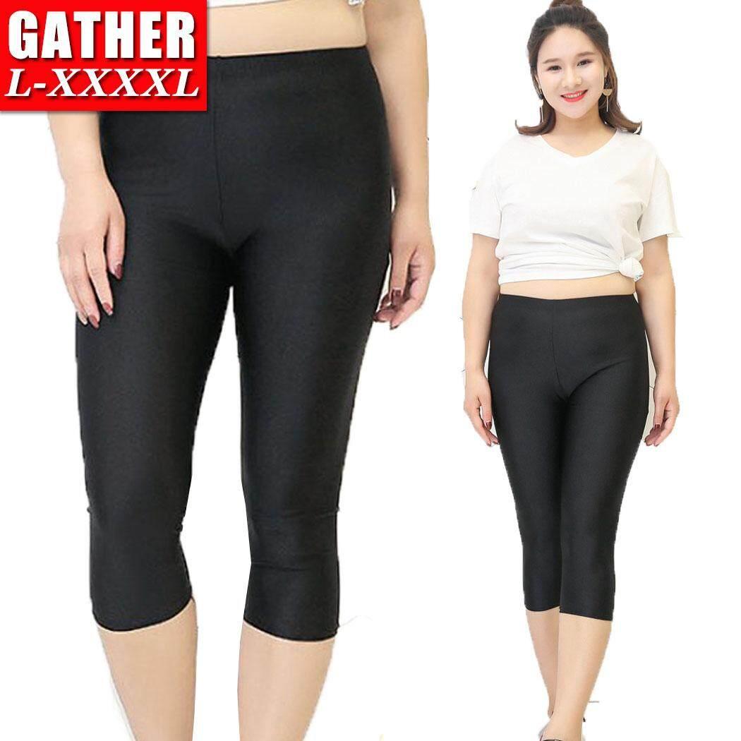 40kg 120kg Plus Size Stretchy Women Yoga Running Jogging Sports Cropped Leggings Pants