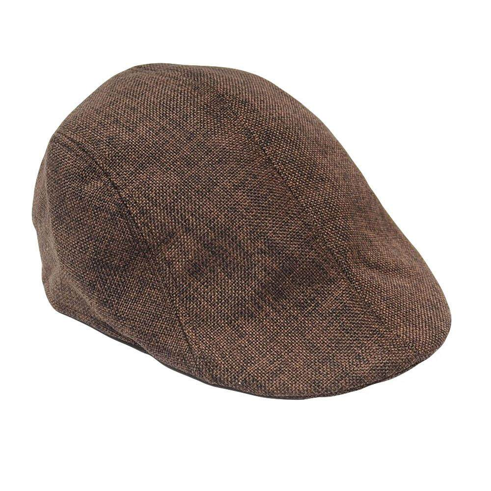 f21937cafea088 Men Women Solid Winter Cap Solid Ear Protector Beret Slouchy Hat