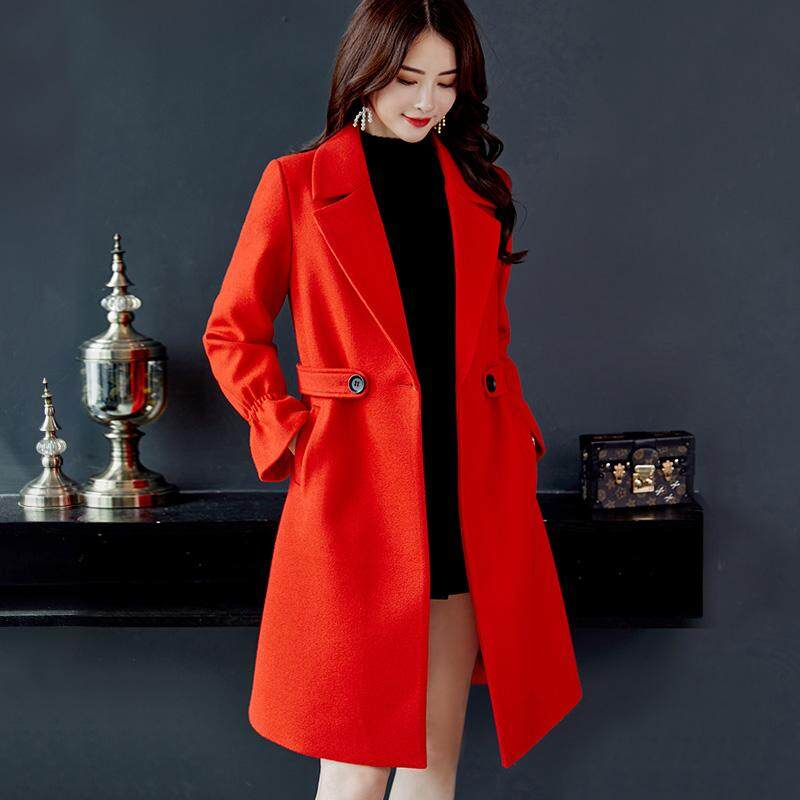 Caidaifei 2018 Autumn And Winter New Style Fashion Mid-length Slim Fit  Slimming Woolen Jacket 2db4a748f93a