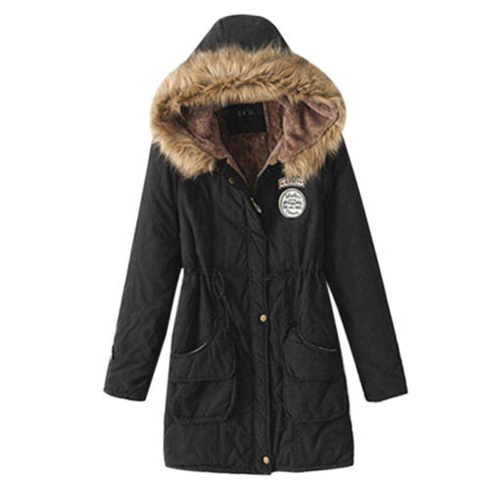 Buy Jackets Coats At Best Prices Online In Malaysia Short Coat With Hood Fs Big Sale Womens Winter Warm Parka Outwear Fluffy Collar Hooded Long Jacket Thicken Plus Size