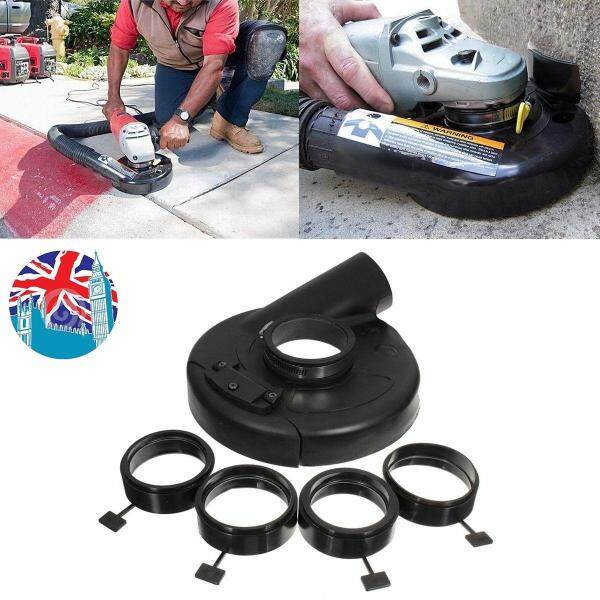 18cm/7 Black Vacuum Dust Shroud Cover for Angle Grinder Hand Grind Convertible Free Shipping