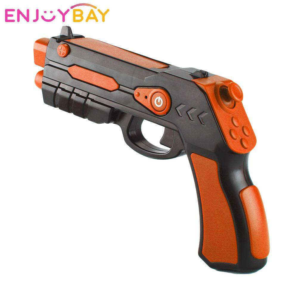 Enjoybay AR Gun Outdoor Toy 4D Remote Sensing Game Gamepad Bluetooth Smart Pistol w/ Phone Holder Games Gun Toys for Android ios