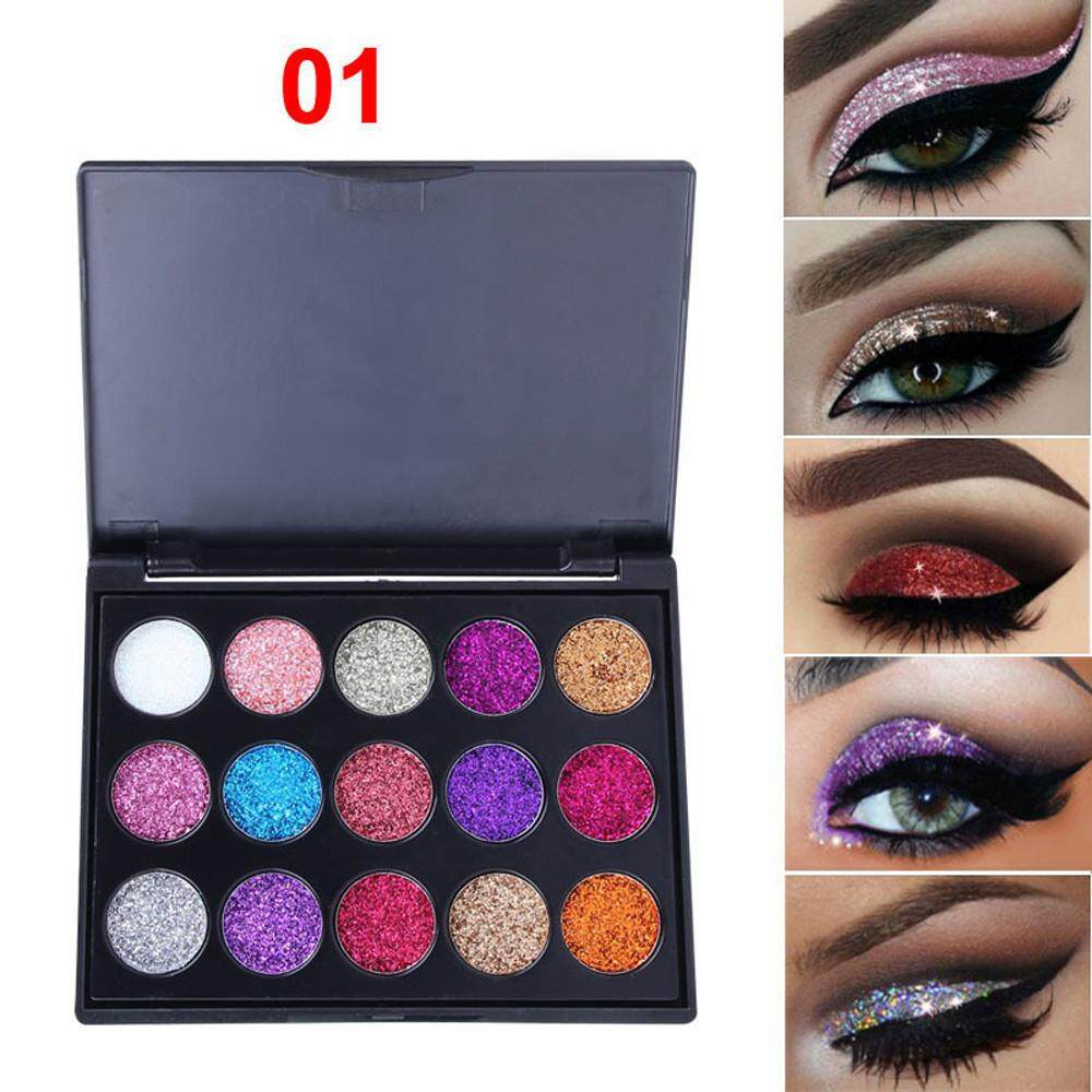 Buy Eye Shadows At Best Prices Lazada Malaysia Free Shipping Focallure Glitter And Glow Liquid Eyeshadow Multifunction Shimmer Shadow Powder Palette Matte Cosmetic Makeup