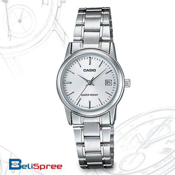 Casio STANDARD LTP-V002D-7A Stainless Steel Band Womens Watch White Malaysia