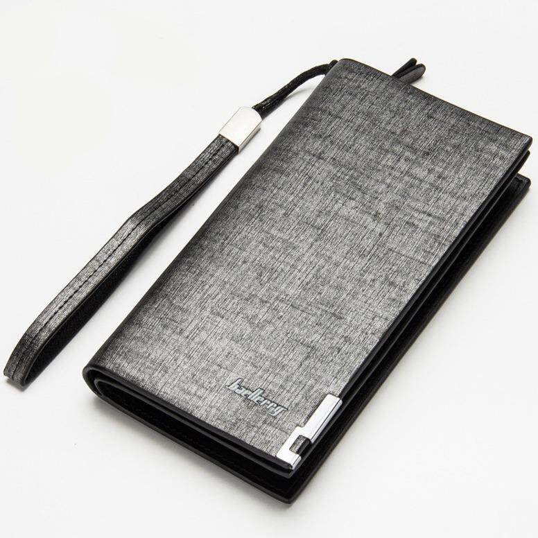 Iunyk Baellerry Men Wallets Fashion Design Long Pu Leather Long Zipper Coin Purse Iu0116 (01style-Grey) By Iunyk.