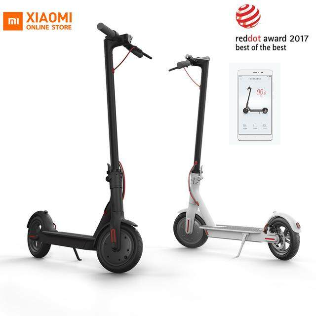 Xiaomi Mi Mijia Electric Foldable Scooter With Kers, E-Abs, 500w Motor, 30km Range, Smartphone App (original Import) [black / White] By Tradeshoppe.