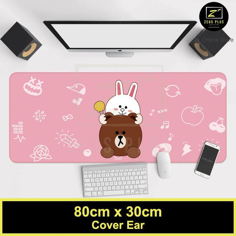Z PLUS Line Cartoon Large Gaming Thickened Desktop Laptop Keyboard Mouse Pad (Ear) Malaysia