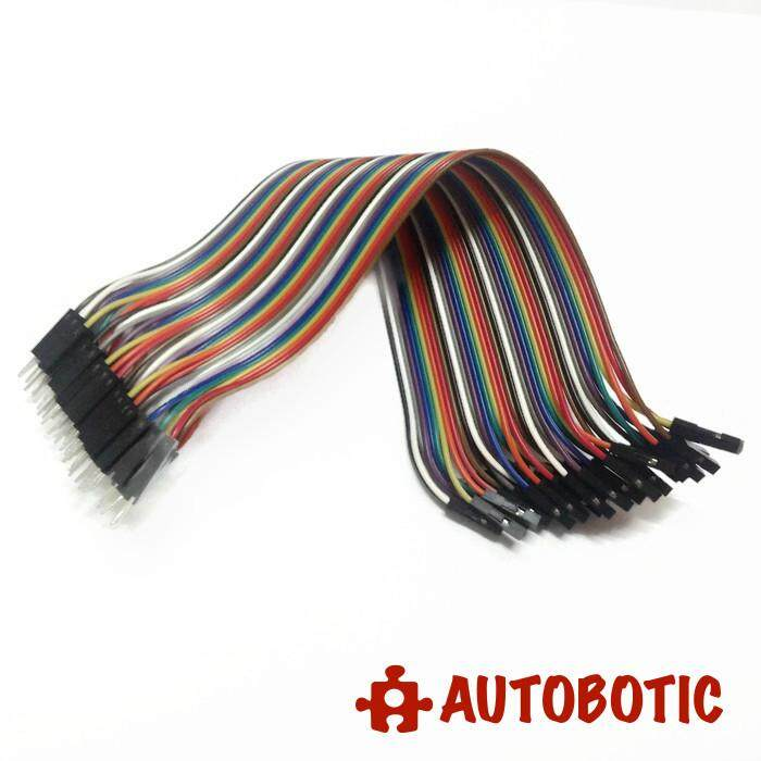 Male to Female Arduino Breadboard Dupont Jumper Wires (40p-20cm)