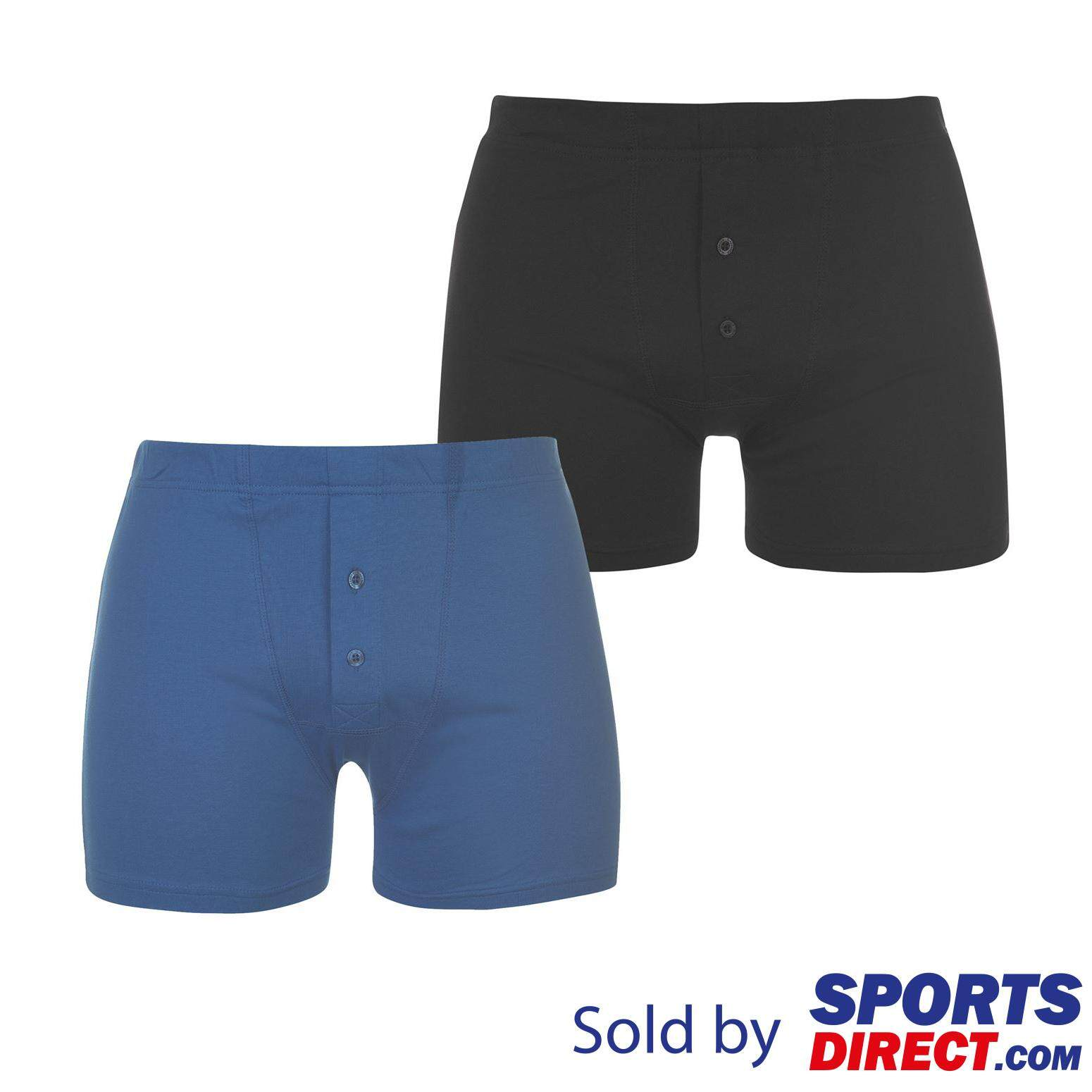 Slazenger Mens 2 Pack Boxers (navy/blue) By Sports Direct Mst Sdn Bhd.