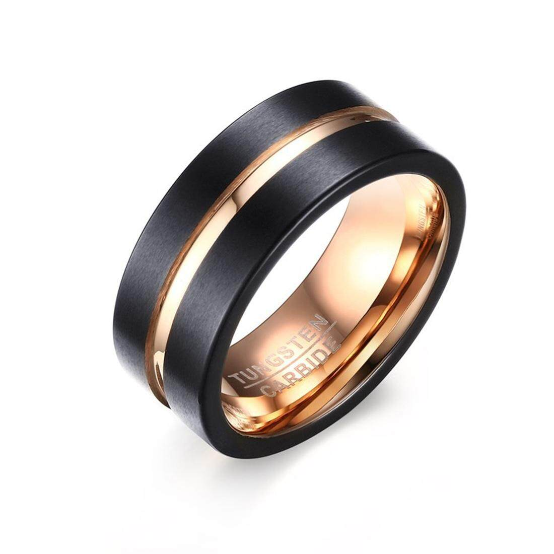 Men Rings Buy At Best Price In Malaysia Chic Classic Wedding Ring Cincin Kawin Tunangan Pernikahan 2 Europe And America Style Pure Tungsten Carbide Hand Brushed Rose Gold Plating