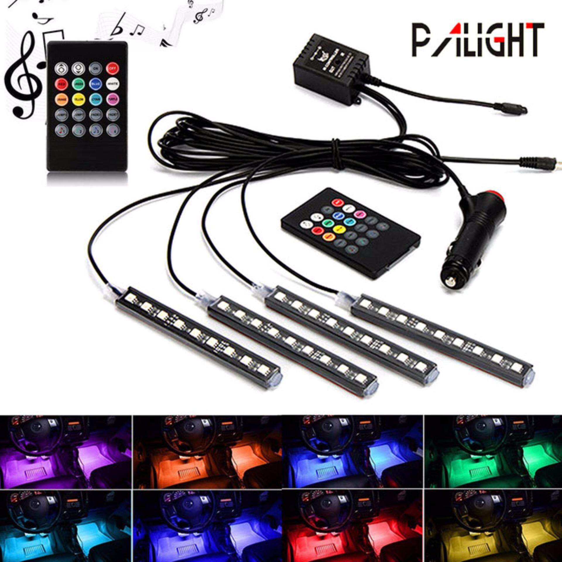 【Global Express Delivery+Free shipping】PAlight Car Interior Atmosphere Neon Light LED Multi Color RGB Voice Sensor Sound Music Control Decor Lamp(MY)