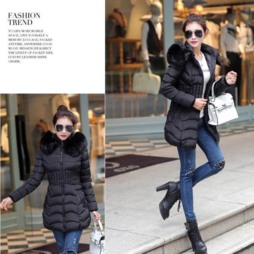 (audestore)_fashion Winter Womens Long Jacket Warm Cotton Slim Coat Parka Trench Outwear By Audestore.