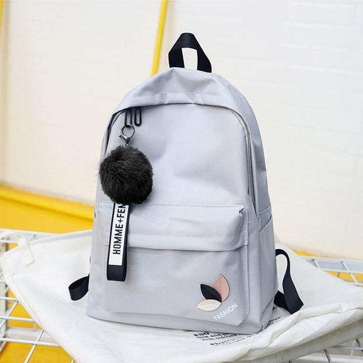 ad8e99e820f8 Korean Style Leaf Canvas School Backpack BG3917