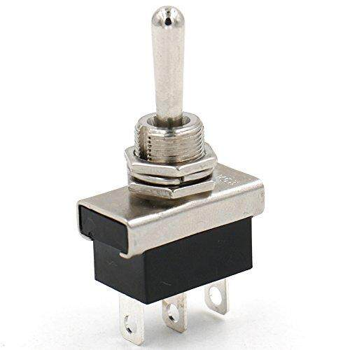 DEERWAY Metal Toggle switch Flick Flip 12V 25A SPDT ON/OFF/ON 3 positon 3 pin for Car Dash Light