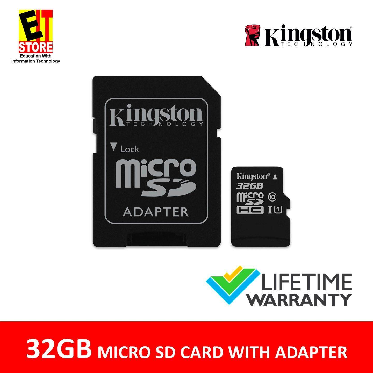 KINGSTON 32GB MICRO SD MEMORY CARD 80MB s CLASS 10 CANVAS SELECT WITH SD ADAPTER