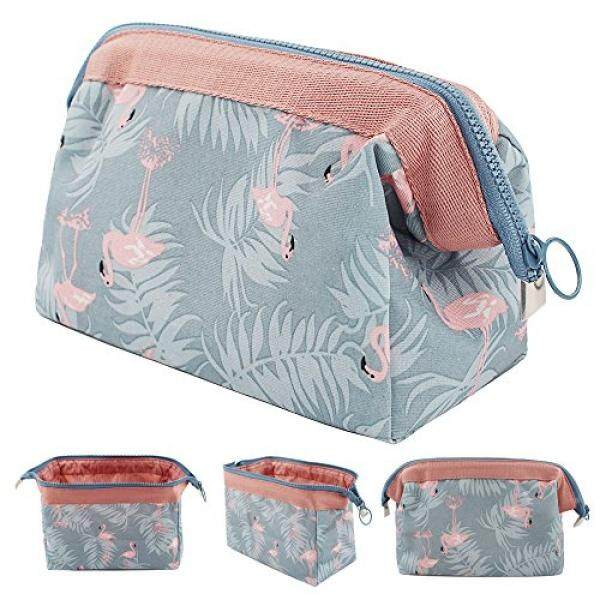47e6f18ccdf8 Okdeals Portable Makeup Bag Toiletry Kit Cosmetic Pouch Storage, Flamingo  Brush Jewelry Organizer with Zipper, Pencil Holder for Women and Girls, ...