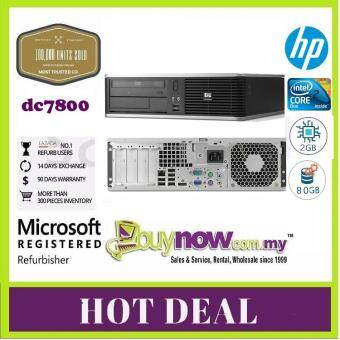 REFURBISHED USED COMPUTER HP Compaq dc7800 (SFF) Desktop PC  - C2D, 2GB, 80GB, Win Xpp, 3 Month Warranty