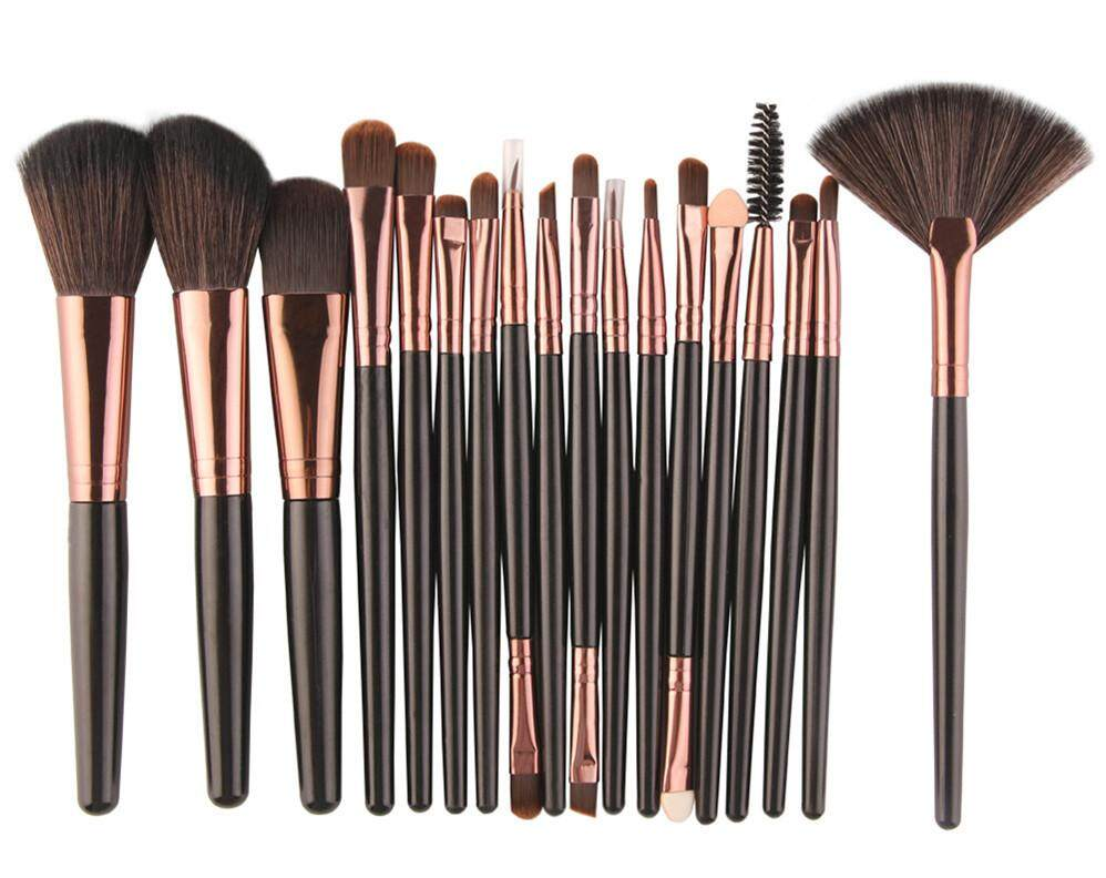 Makeup Brush Set Cosmetics With Best Price In Malaysia Wardah Make Up Kit Special Edition 18 Pcs Black Rose Gold