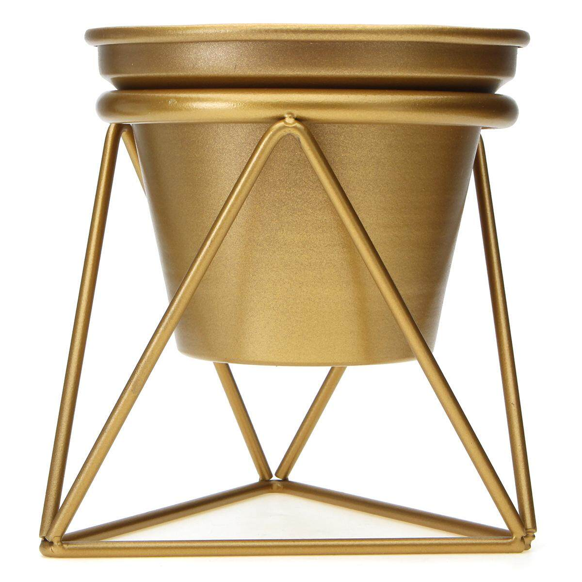 Golden Flower Pot Plant Display Stand Planter Rack Shelves Organizer Garden