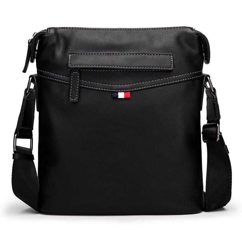 New Cowhide Leather Messenger Bag Fashion Casual Shoulder Bag Sports Leisure  Clutch Crossbody Bag 6a18cf085a