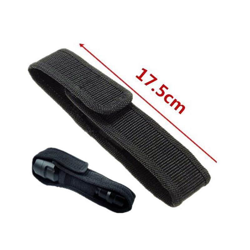 Led Flashlight Torch Lamp Light Holster Holder Carry Case Belt Pouch Nylon  14.5cm