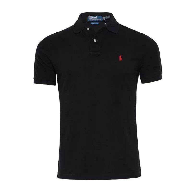 8ac3a259 Hot Sale New 2017 Fashion Men Lauren shirt Solid Color Short-Sleeve Men  Cotton Shirts