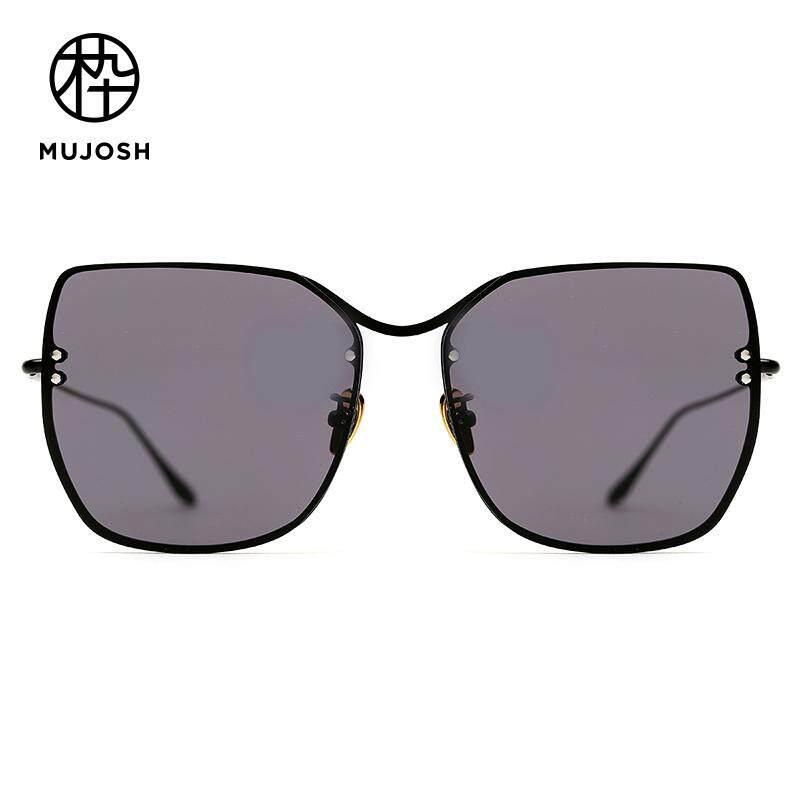 c43246ae15 MUJOSH Unisex Metal Nylon TR90 Lens Butterfly Oversized Classical Fashion  Sunglasses SM1840162C01