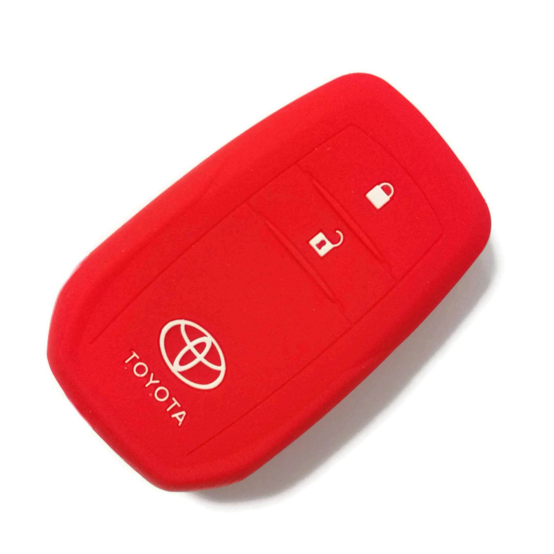 Toyota Hilux Revo & All-New Innova 2016-2018 Keyless Remote Silicone Car Key Cover Case (Red)