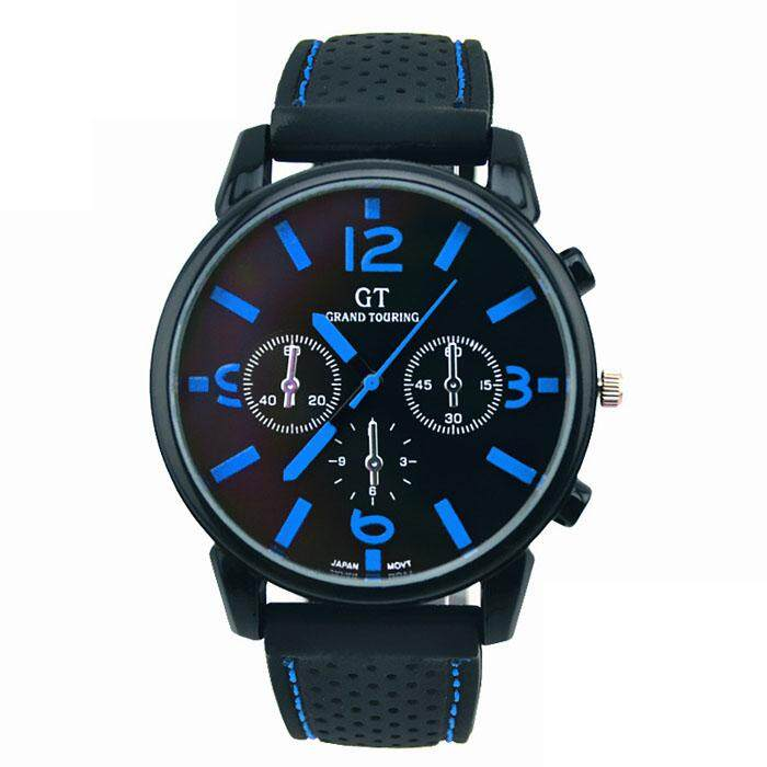 【LKJ MALL】Men Fashion Stainless Steel Sport Cool Quartz Hours Wrist Analog Watch RD Malaysia