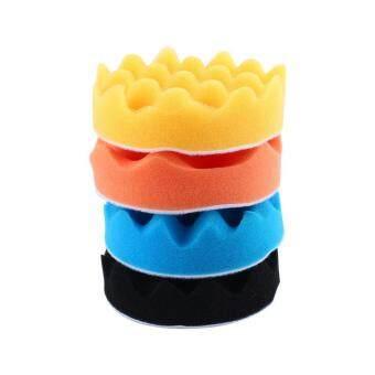 4Pcs 5inch Car Polishing Sponge Foam Pads Buffing Wax Polisher Set