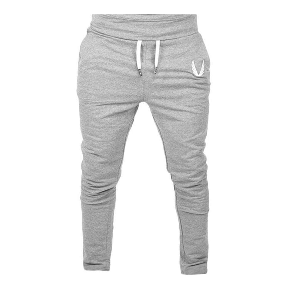 New Men Sportswear Casual Elastic Fitness Workout Running Gym Pants Trousers