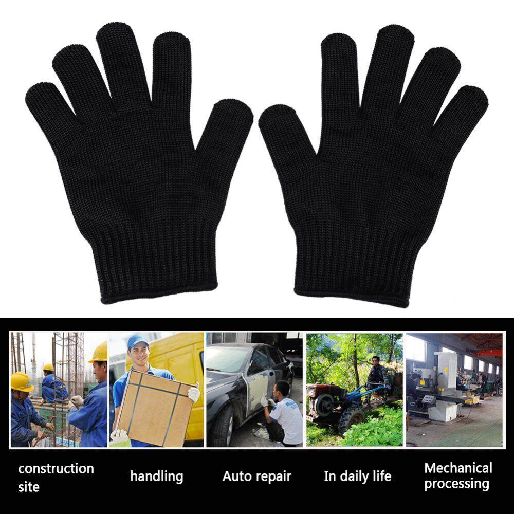 1 Pair Anti Cut Glove Stainless Steel Mesh Cut Resistant Glove Safety Work Butcher Protection Tool