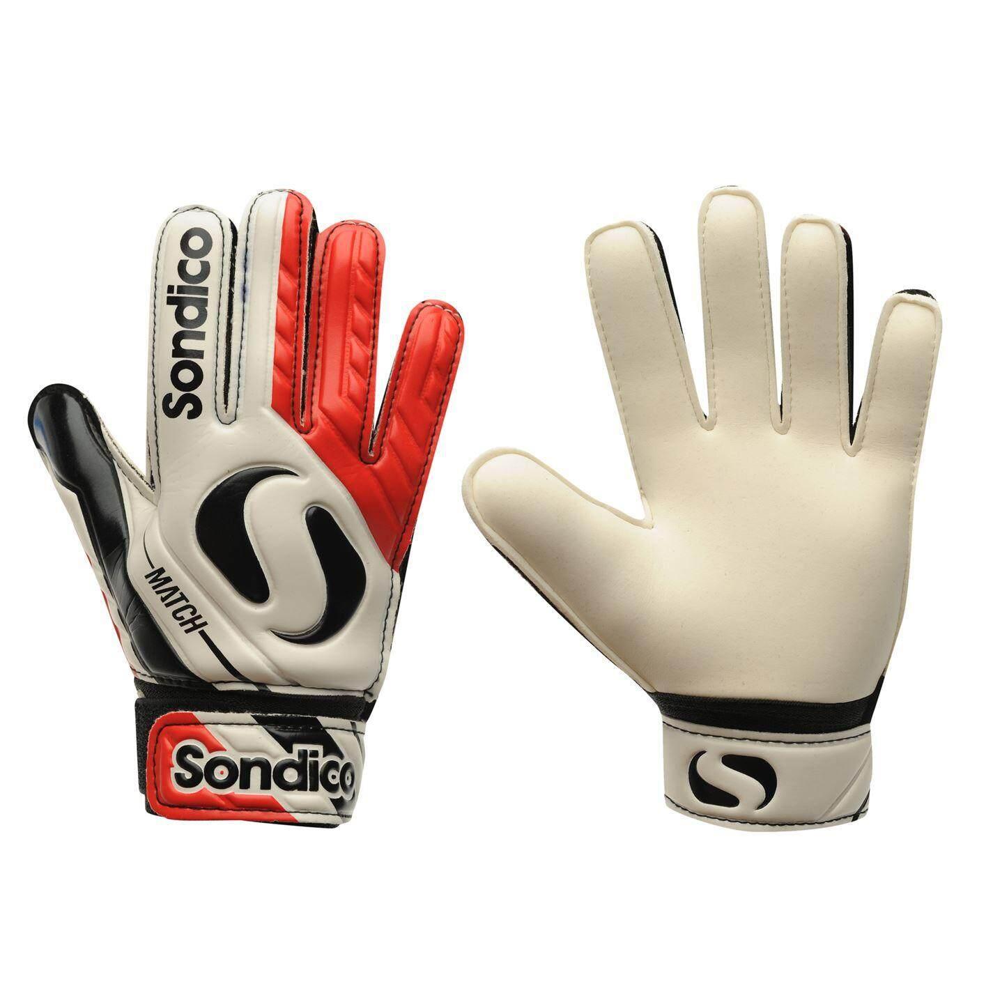 Sondico Kids Match Goalkeeper Gloves White Red